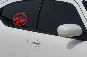 MILF Inside Sticker Decal Car Van TDI VAG Audi Adhesive Exterior